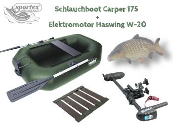 Schlauchboot CARPER 175 mit Elektromotor Haswing W-20